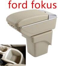Большой подлокотник для Ford Focus 2 MK2 2005-2011 подлокотник центр центральной консоли кожаная коробка для хранения Поддержка 2006 2007 2008 2009 2010