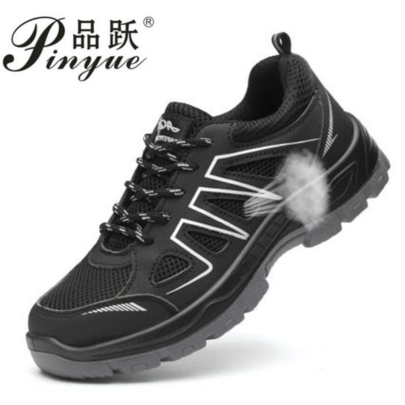 Men Steel Toe Safety Work Shoes Breathable Hiking Sneaker Multifunction Protection Footwear Ankle Boots Skid Warm