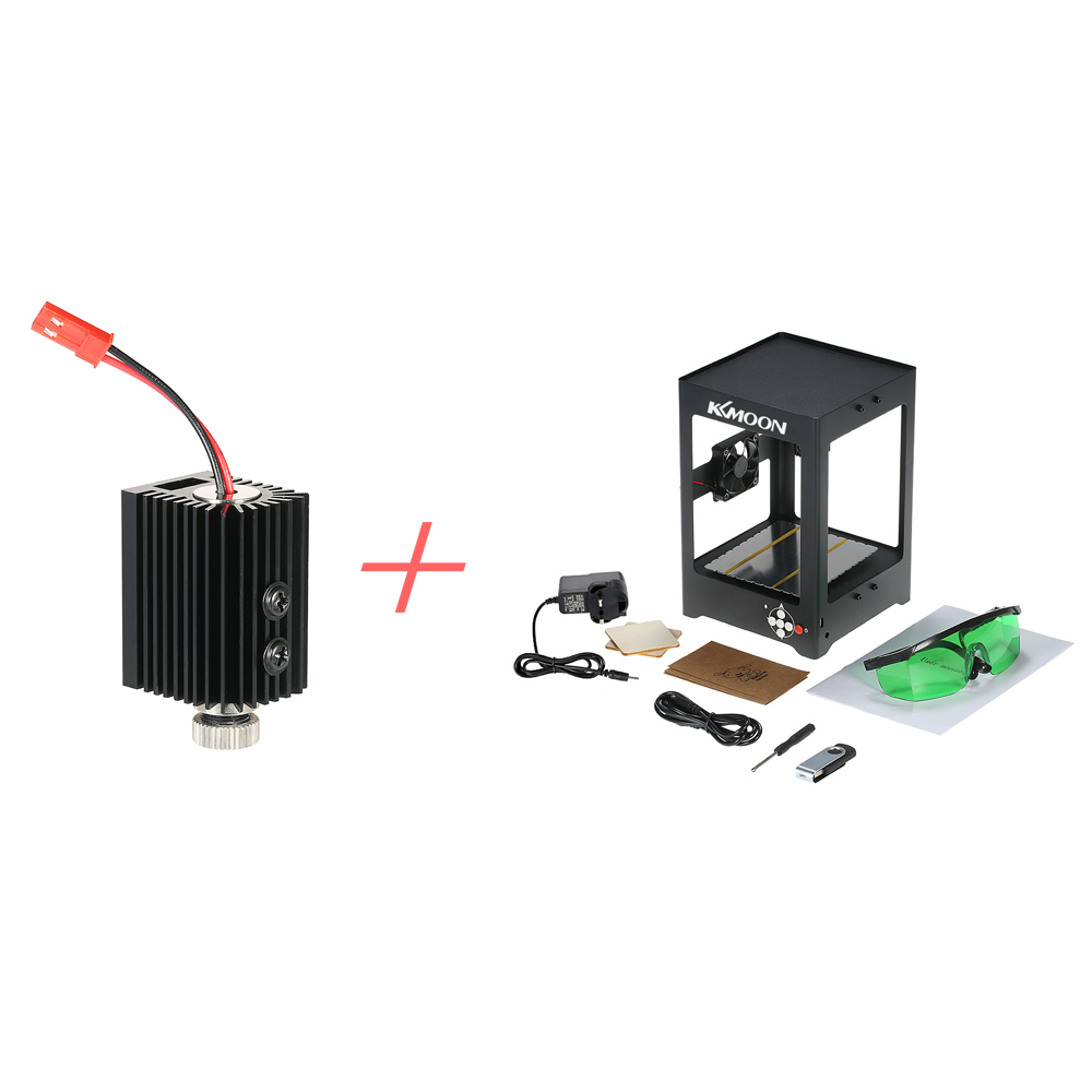 K2 1000mW Miniature Laser Engraving Machine Off-line Operation + 1000mW 405nm Blue-violet Light Laser Head with Screwdriver 1000mw high speed mini laser cutter usb laser engraver cnc router automatic diy engraving machine off line operation glasses
