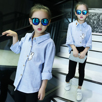 Clearance Children Blouses Stand Collar Cartoon Blouse Long Sleeve Shirt Girls Casual Clothing Baby Tops And