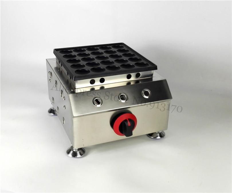 Gas Poffertjes Machine Nonstick Dutch Pancakes Puffs Grill Stainless Steel Brand New Mini Round Waffle