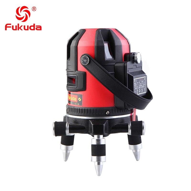 Fukuda EK-489DP 5 lines laser level 360 Self -Leveling 360 water dust proof level laser strong 8 times brightness