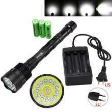 Free Shipping Vastfire Powerful 40000LM 14X T6 LED Flashlight Torch Camping Light PCB 3X18650