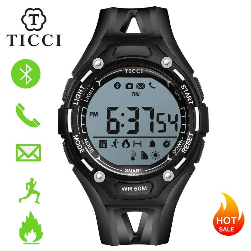 Rastreador de fitness Sports Digital Smartwatch Bluetooth Relógio Inteligente Pedômetro Lembrete de Chamada de Alerta de Mensagem Homens Meninos Adolescente IOS Android