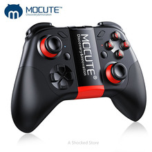 Mandos de videojuegos inalámbricos con Bluetooth y botón de cristal para PC, teléfono inteligente, TV VR, MOCUTE 054, portátil, PK 050