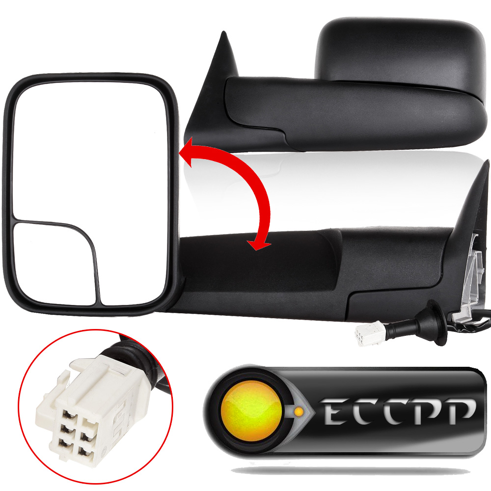 Eccpp towing mirrors fit 1998 2001 dodge ram 1500 1998 2002 ram 2500 3500 turck power heated side view mirror pair lh rh