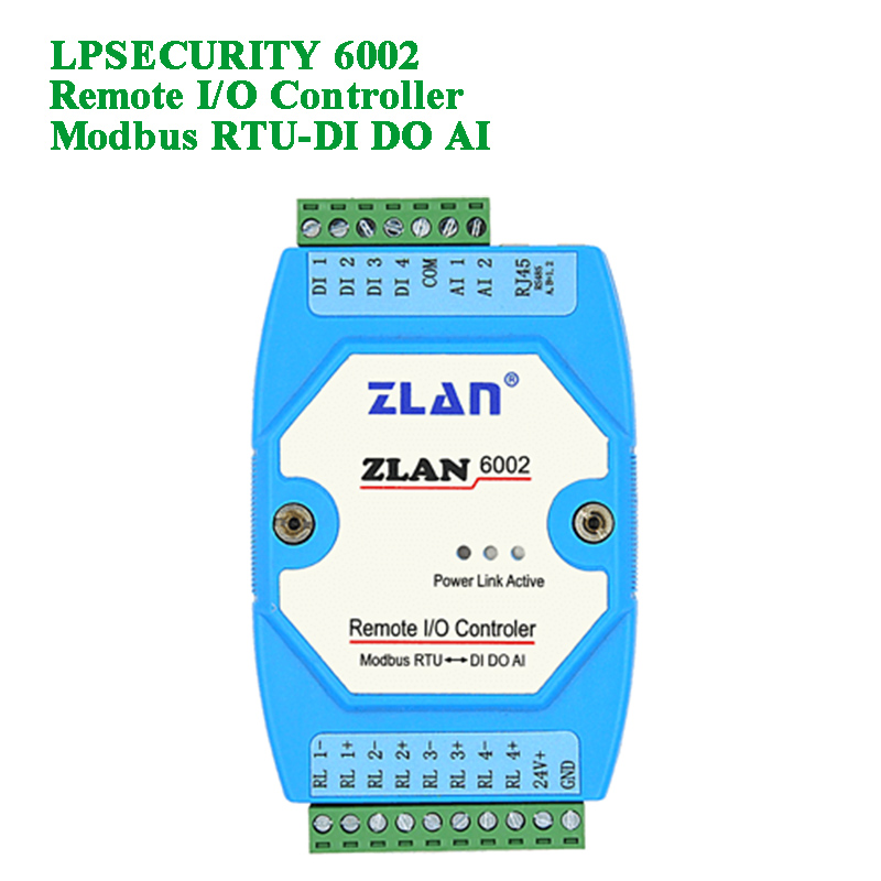 Remote I/O Controler With RS485 Transmissio/Digital Input/Relay Output/Analog Quantity Input For Remote IO Control/data-hunting