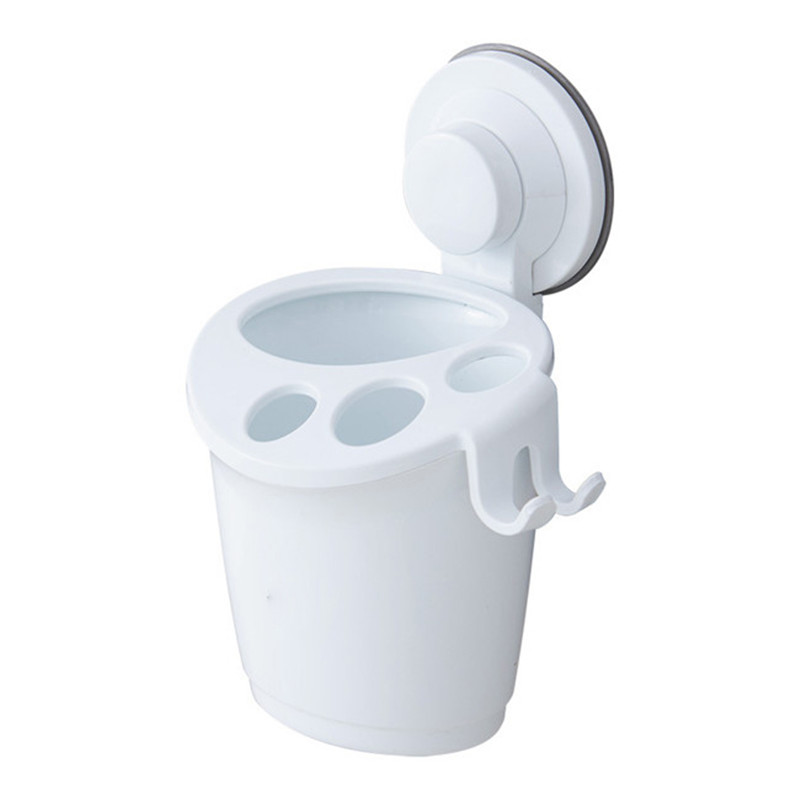 Bathroom:  Multifunctional Wall Mounted Toothbrush Holder Bathroom Products Plastic Toothpaste Holder Palstic Shaver Holder Bathroom Tool - Martin's & Co