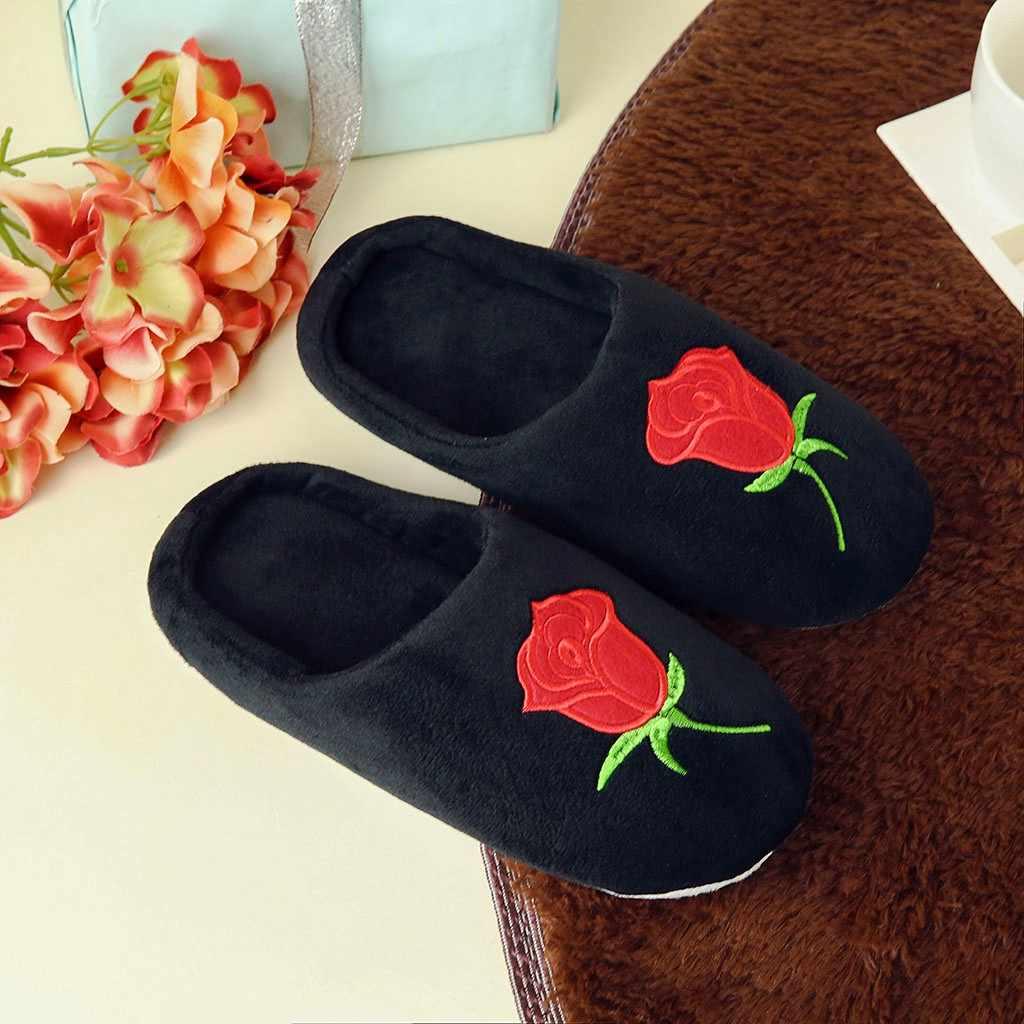 2019 Womens Fur Slippers Winter Shoes Big Size Home Slippers Plush Pantufa Women Indoor Warm Fluffy Terlik Cotton Shoes