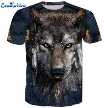 ConMotion Men's 3D Tshirts Wolf Printing Short Sleeve T-Shirt