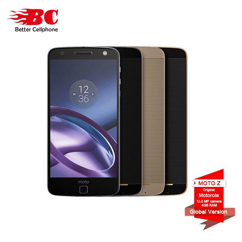 Motorola MOTO Z XT1650-05 5.5 pouce 1440 p 2 k Snapdragon 820 Android 6.0 4g TD LTE smartphone 4 gb RAM 64 gb ROM 13MP Tactile ID