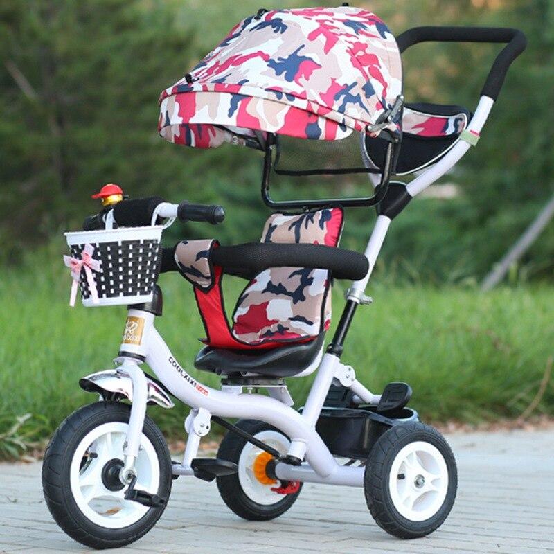 New Baby Stroller Tricycle Children Camouflage Sunshade Pram Toddler Buggy High Landscape Stroller Lightweight Baby Carriage