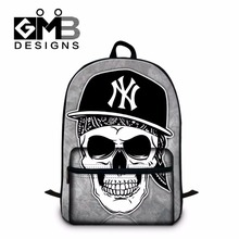 Fashionable Skull Bookbag for College stylish Back pack,School Backpacks for Boys,Cool Girl Mochila with Laptop compartment