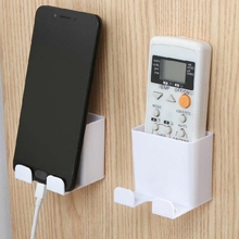 Wall-Mounted Air Conditioner /Tv Remote Control Storage Box Controller Mobile Phone Bracket Wall Hanging Storage Rack