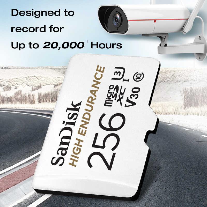 Карта памяти SanDisk высокая выносливость видео мониторинг 32 Гб 64 Гб MicroSD карта SDHC/SDXC класс 10 U3 V30 TF карта для мониторинга видео