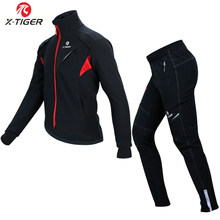 X-TIGER de Ciclismo de invierno, ropa térmica de lana para ciclismo, a prueba de viento, chaqueta reflectante para bicicleta de montaña, ropa deportiva