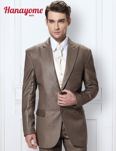 Online Shop Khaki Wedding Tuxedos Mens Leopard Suit Pants Golden ...