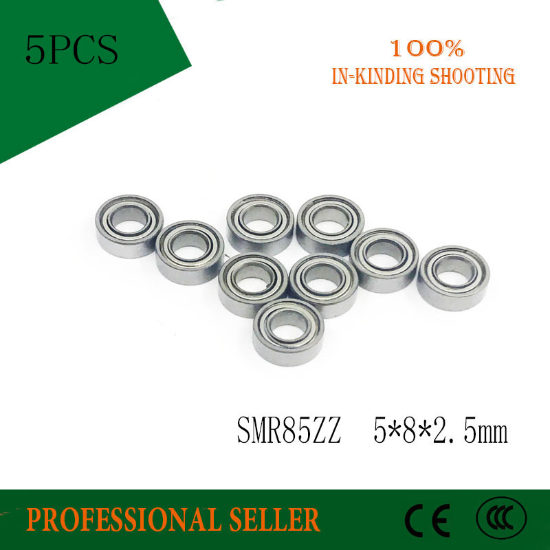 Free shipping 5pcs SMR85ZZ SMR85 ZZ S675ZZ B675ZZ ABEC-3 Stainless steel 440C miniature bearing 5x8x2.5 mm 100pcs abec 5 440c stainless steel miniature ball bearing smr115 s623 s693 smr104 smr147 smr128 zz shield for fishing fly reels