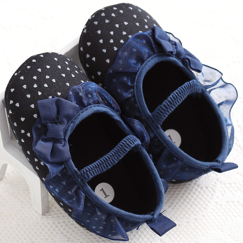 Objective Braneded Lace Baby Girl Shoes Princess First Walkers Polka Dot Soft Sole Girls Sneaker Infant Butterfly-knot Moccasins To Reduce Body Weight And Prolong Life Mother & Kids