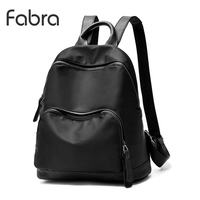 Fabra Waterproof Nylon Black Backpack Women Back Pack Laptop Mochila Quality Designer Backpacks Female Fashion Mid