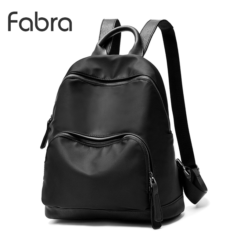 Fabra Waterproof Nylon Black Backpack Women Back Pack Laptop Mochila Quality Designer Backpacks Female Fashion Mid Size Daypacks sinpaid 3 size backpack waterproof men s back pack 15 6 inch laptop mochila high quality designer backpacks male escolar ff