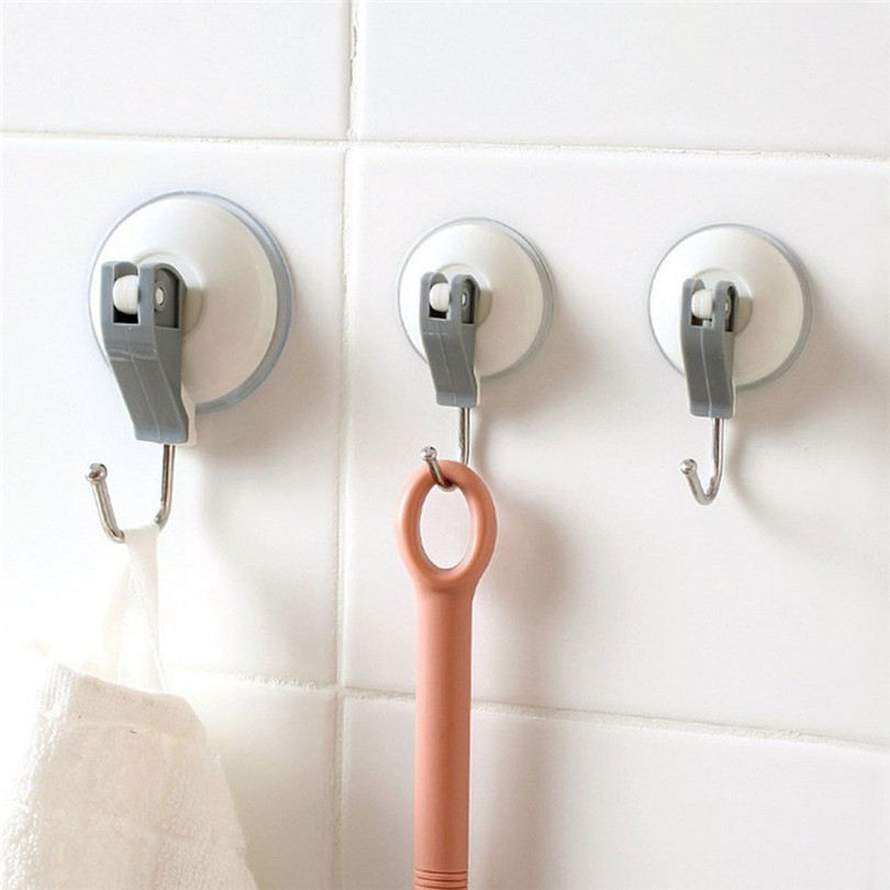 3 Sizes Suction Cup Hook Bathroom/Kitchen Heavy Duty Large Suction Cup Hooks Snap Lever Vacuum Holder 2-piece Set Hanger #4JY22