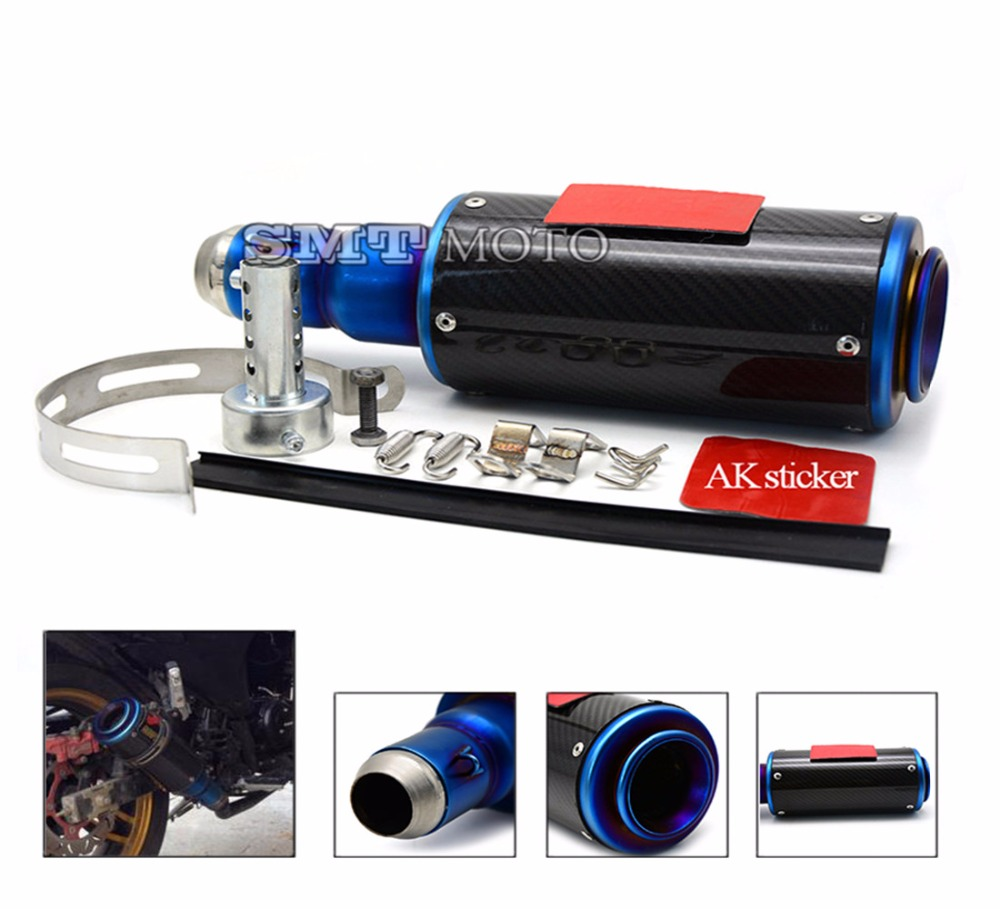 motorcycle accessories motorcycle muffler carbon fiber 50mm exhaust pipe fit for HONDA MSX125 monkey 135 motorcycle accessories motorcycle muffler carbon fiber 50mm exhaust pipe fit for yamaha yzf600 r6 yzf1000 r1