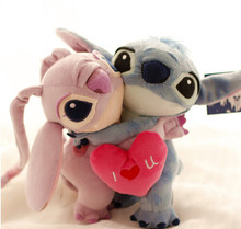 2pcs One Pair 26CM Lilo and Stitch Plush toys Valentines Gift