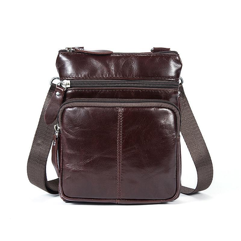 HTB1rfc XfvsK1Rjy0Fiq6zwtXXaF Messenger Bag Men's Shoulder Genuine Leather bags Flap Small male man Crossbody bags for men natural Leather bag
