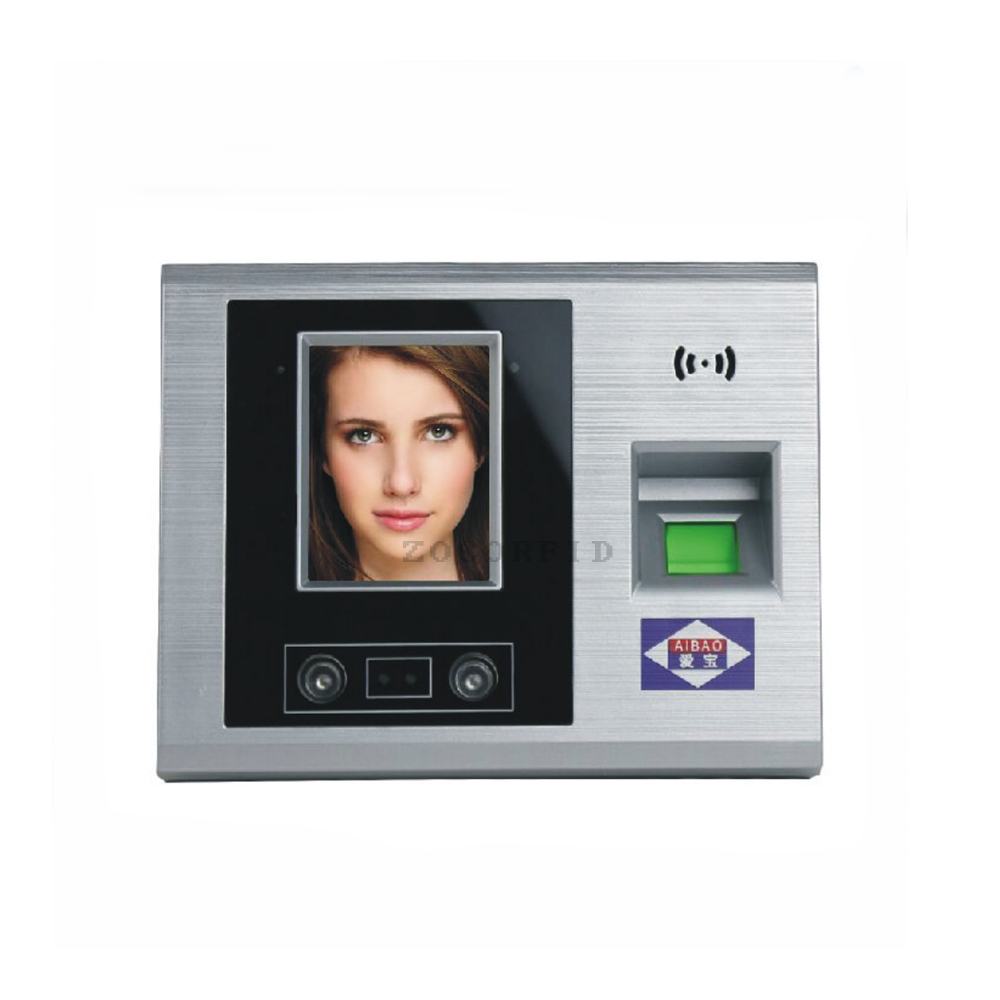 2.8TFT U-disk Face Facial Attendance and Fingerprint Biometric Time Clock Recorder Employee Digital Recognition Reader sap 0237