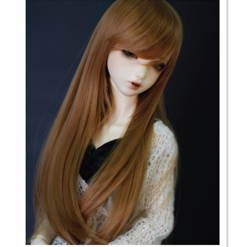 1/3 1/4 BJD Doll Wigs High Temperature Wire Long Straight Hair for Dolls Accessories,Fashion Synthetic Doll Hair Wigs for Dolls wowhot 1 4 bjd sd doll wigs for dolls high temperature wires short straight bangs fashion wig 1 6 1 3 for dolls accessories toy
