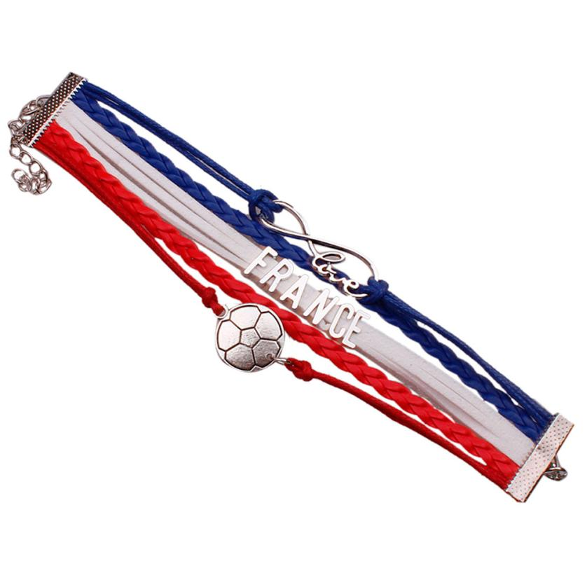 Bracelet Gift Adjustable Multi-Layer Women Chic And Trendy Unisex Rope-Flag Velvet The