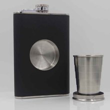 50PCS stainless steel shot flask set of 8oz ,BLACK or Brown color