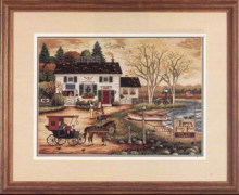 14/16/18/27/28 Free delivery Top Quality popular counted cross stitch kit birch point horse coach carriage house DIM3834(China)