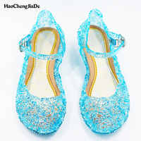 baby shoes girls sandals anna&elsa 2018 New Kids baby shoes elsa princess and cosplay shoes party and Comfortable free shipping