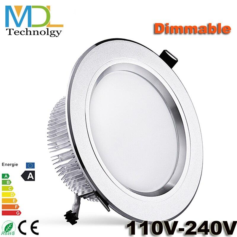 Dimbare LED down light 3 W 5 W 7 W 9 W 12 W 15 W 18 W 21 W AC85-265V - LED-Verlichting