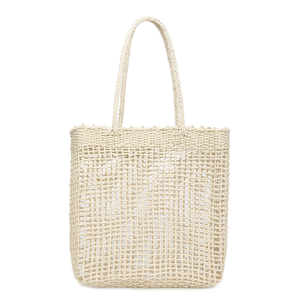 Women Handbag Tote Beach-Shoulder-Bag Party Summer Straw Large-Capacity Popular Hollow