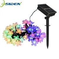 Christmas Lights Outdoor 23ft 50 LED 7M Solar String 8 Mode Waterproof Flower Garden Blossom Lighting