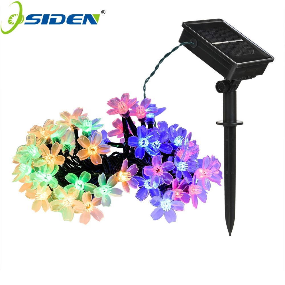 OSIDEN Solar String light Christmas Lights Outdoor 23ft 50LED 7M Waterproof Flower Garden Blossom Lighting Party Home Decoration