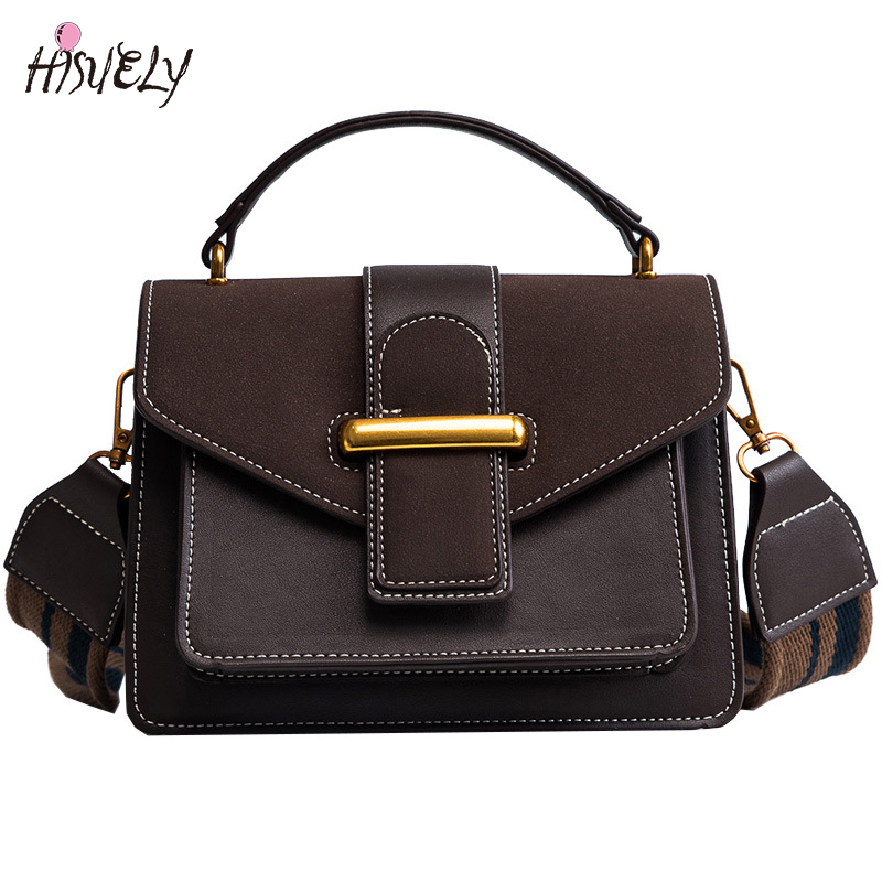 2018 High Quality Frosted Women PU Leather Messenger Bag Crossbody Bags Fashion Design Shoulder Bags Strap Ladies Handbags Girl