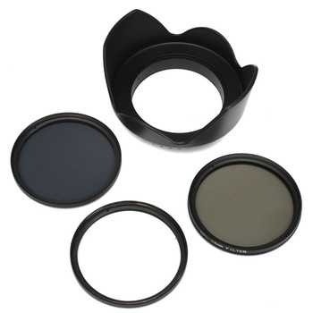ND4 58mm UV CPL Polarizador Circular Kit Filtro Set + Lente Com Caso Para Canon Câmera Digital SLR DSLR