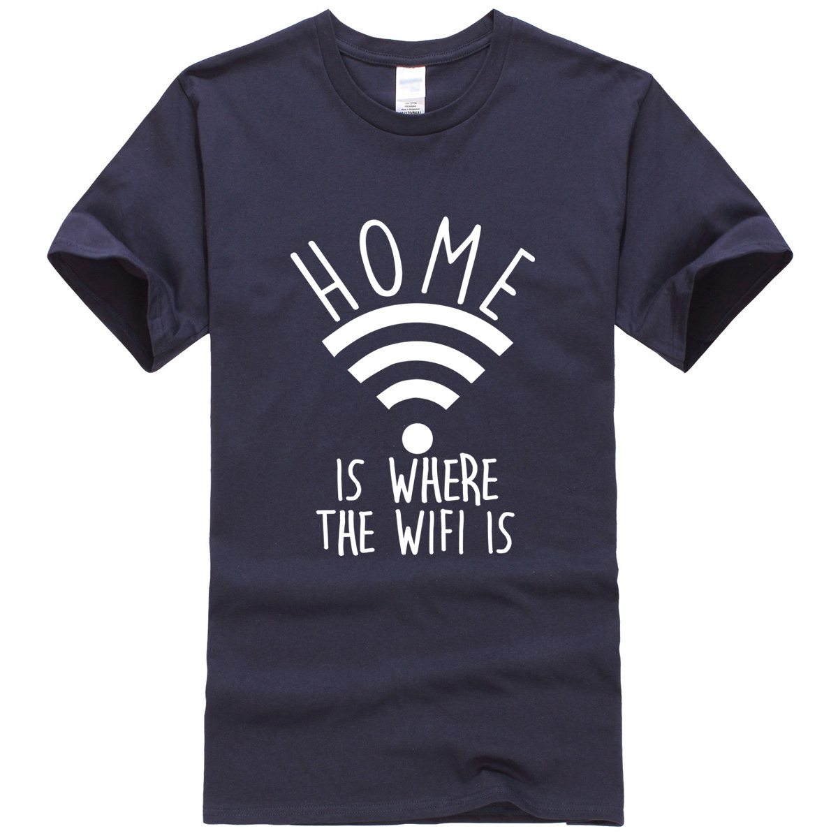 Home Is Where The Wifi Is 2017 men's T-shirts summer funny letter casual crossfit t shirt men sportwear brand clothing kpop top