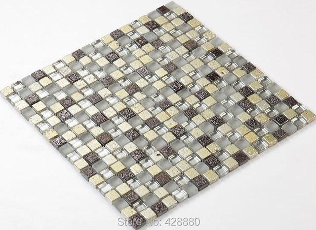 Glas Mosaik Fliesen Backsplash Küche Fliesen Bodenbeläge Designs Stein Wand  Harz Muster RGS002 Kristallglasmosaik Bodenfliesen