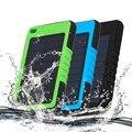 Cargador Universal 8000 mAh Nuevo Banco Portable de la Energía Solar A Prueba de agua Al Aire Libre de Viaje Batería Enteral Powerbank para el teléfono Móvil