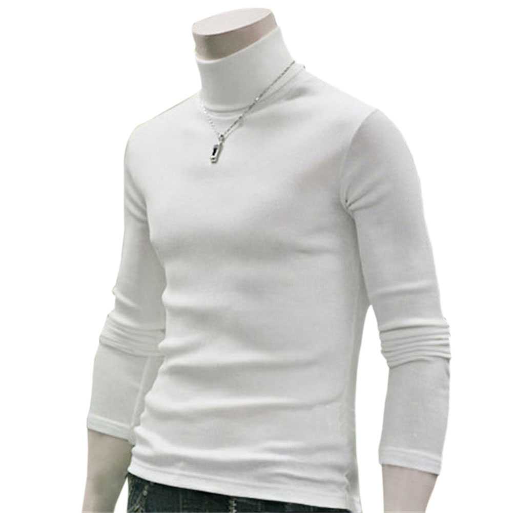 Winter Men Sweater Plus Size Long Sleeve Solid Color Warm Comfortable Cotton Turtleneck Sweater Fashion Men Tops Clothes LB