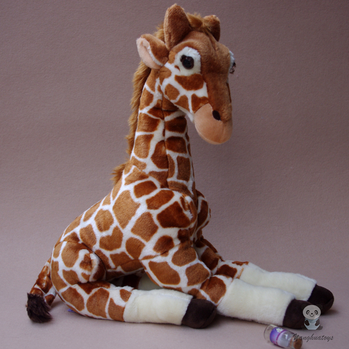 Toys  Plush Giraffe Doll  Simulated  Animals Stuffed Big Toy Pillow Children Birthday Gift big toy owl plush doll children s toys simulation stuffed animal gift 28cm