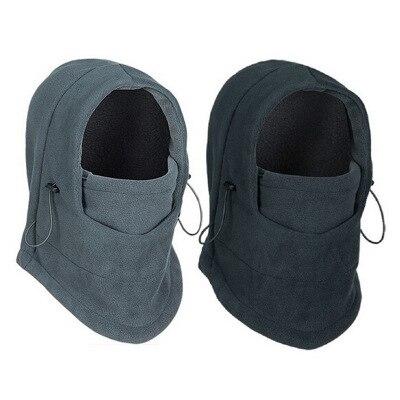 Anime hat Outdoor Sports Neck Breathable Polar Hoods Hat Winter Ski Cap Ear Windbreaker Warm Mask winter hats for men beanie