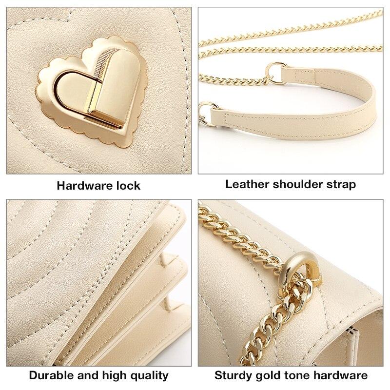 FOXER Brand Chic Female Valentine's Day present Skin Messenger Bags Elegant Lady Love Flap Bag INS Fashion Women Crossbody Bag 5