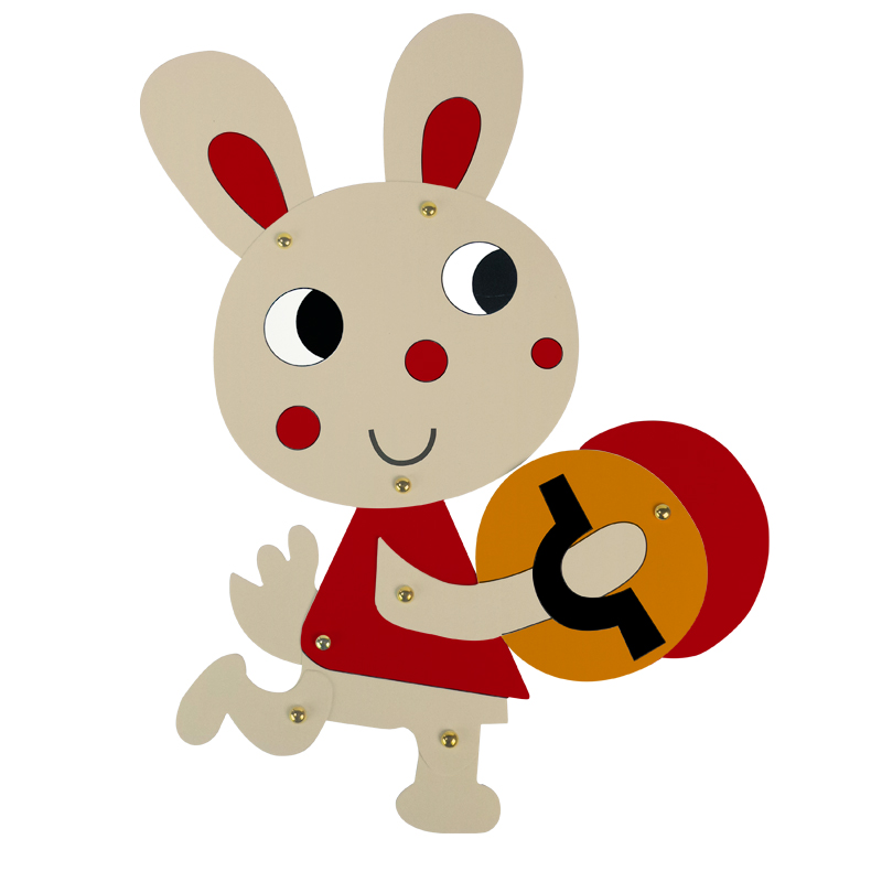 Cute Easter Bunny Painting Decoration Rabbit Cardboard Craft Kids ...