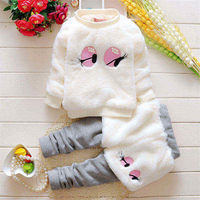 BibiCola baby girls winter clothing sets kids girl fashion clothes set child sweater + pants 2pcs winter baby lovely suits